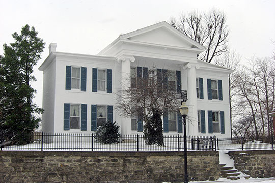 Pollard-Nelson Mansion, ca. 1845, 7th and Market Streets, Logansport, IN, National Register