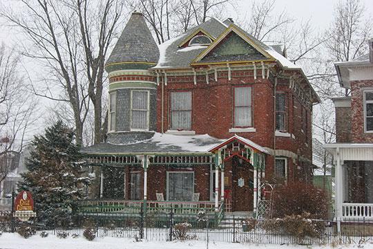 Willard B. Place House, ca. 1889, 900 East Broadway, Logansport, IN, National Register