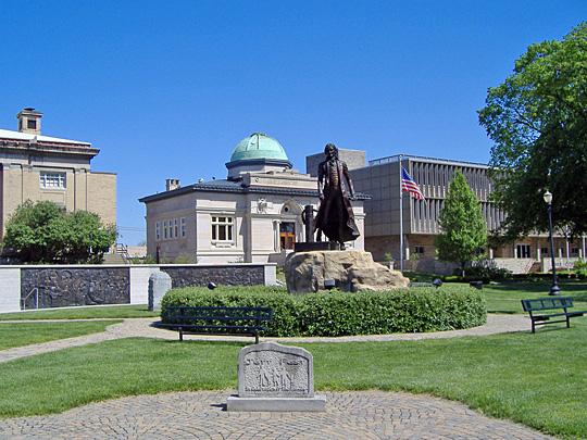 Thomas Jefferson Statue in Warder Park, Jeffersonville, Indiana