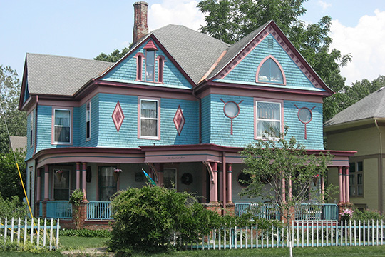 Charles H. and Emma Condon House, ca. 1902, 603 South Jackson Street, Frankfort, IN.