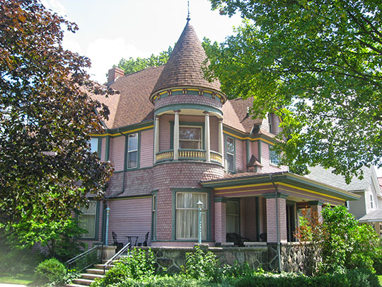 Frank and Katharine Coppes House, ca. 1893, 202 East Market Street, Nappanee, IN, National Register
