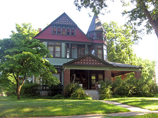 Lyman M. Brackett House, ca. 1884, 328 W. Ninth Street, Rochester, IN, National Register