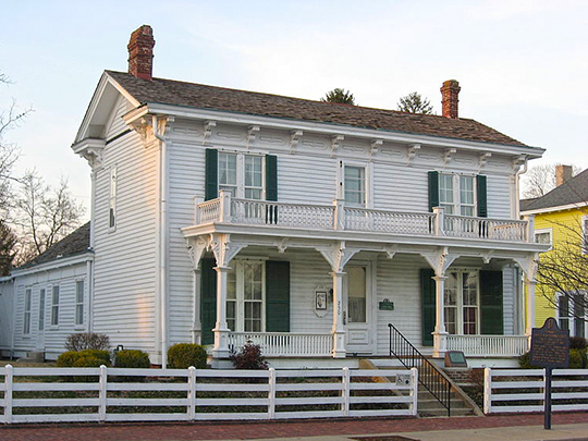 James Whitcomb Riley Boyhood Home, ca. 1850, 250 West Main Street, Greenfield, IN, National Register