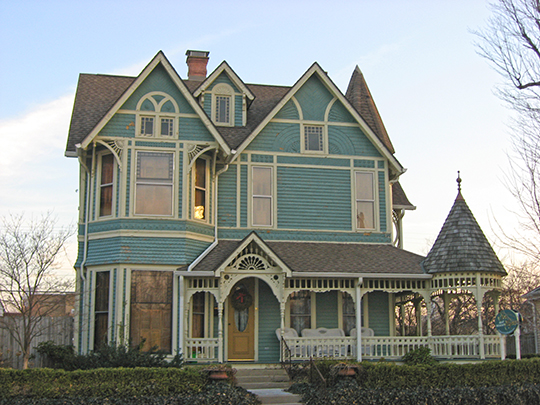 Charles Barr House, ca. 1893, 25 West Walnut Street, Greenfield, IN, National Register