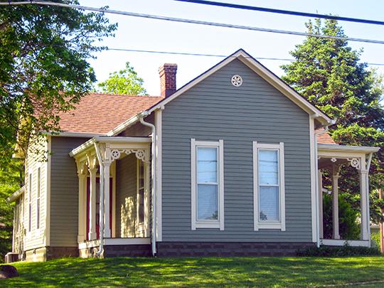 Ora Adams House, ca. 1883, 301-303 East Main Street, Danville, IN, National Register