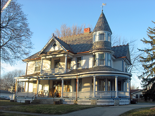 John W. Hendrick House, ca. 1899, 506 High Street, Middletown, IN, National Register