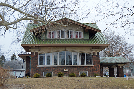 Oren F. and Adelia Parker House, ca. 1920, 102 Park Avenue South, Rensselaer, IN, National Register