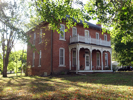 Herriott House, ca. 1860, 696 North Main Street, Franklin, IN, National Register