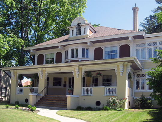 Francis H. Morrison House, ca. 1904, 1217 Michigan Avenue, La Porte, IN, National Register