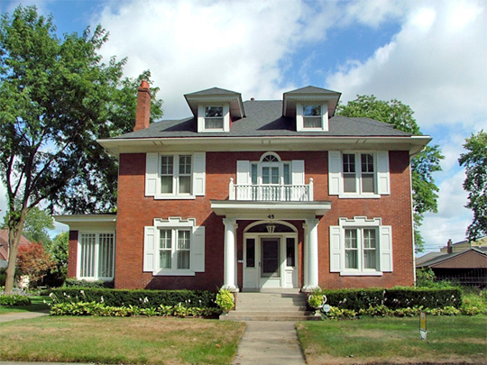 Home at 45 Glendale Park, ca. 1907, Glendale Park Historic District, Hammond, IN, National Register