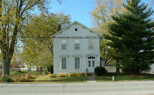 Francis P. Keilman House, ca. 1857, 9260 Patterson Street, St. John, IN, National Register