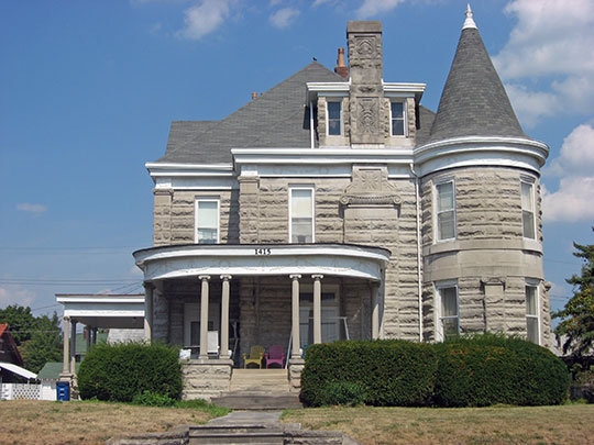 C.S. Norton Mansion, ca. 1880, 1415 15th Street, Bedford, IN, National Register
