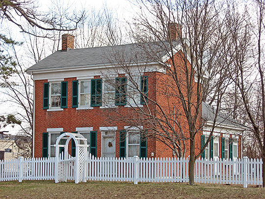 Christopher Apple House, ca. 1859, Indianapolis (Lawrence Township), Indiana, National Register