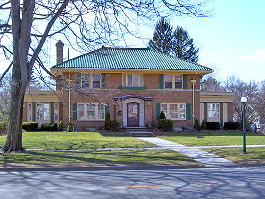 Southworth House, looking west from Michigan Street, Southside Historic District, Plymouth, IN