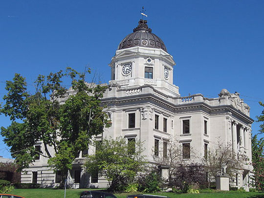 Monroe County Courthouse, Courthouse Square, Bloomington, IN, National Register