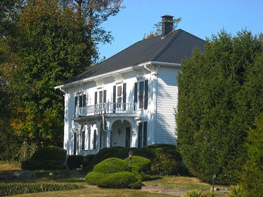 Moffett-Ralston House, ca. 1864, Bixler Road, Patricksburg, IN, National Register