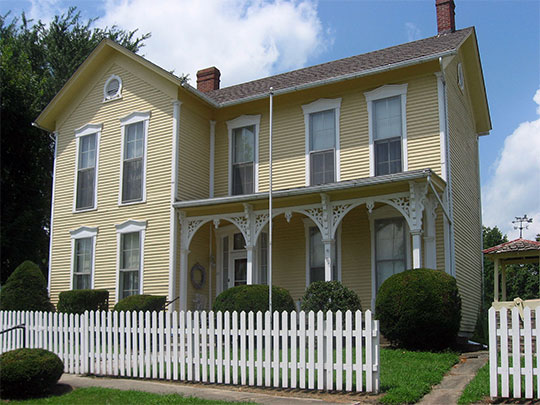 Dr. H. G. Osgood House, ca. 1850, 11 East North Street, Gosport, IN, National Register