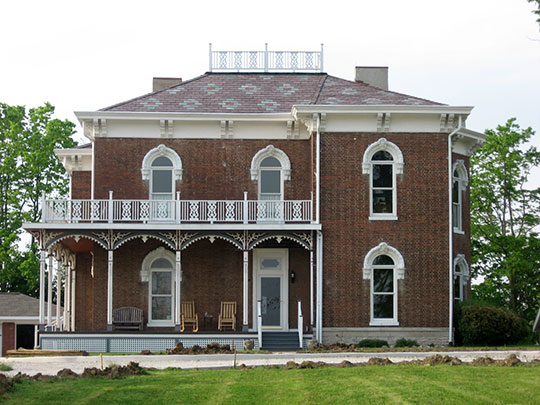 Richard M. Hazelett House, ca. 1868, 911 East Washington Street, Greencastle, IN, National Register