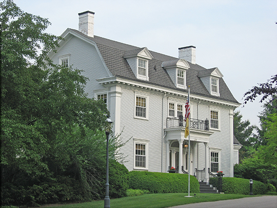 William C. Van Arsdel House (The ELms), ca. 1917, 125 North Wood Street, Greencastle, IN, National Register