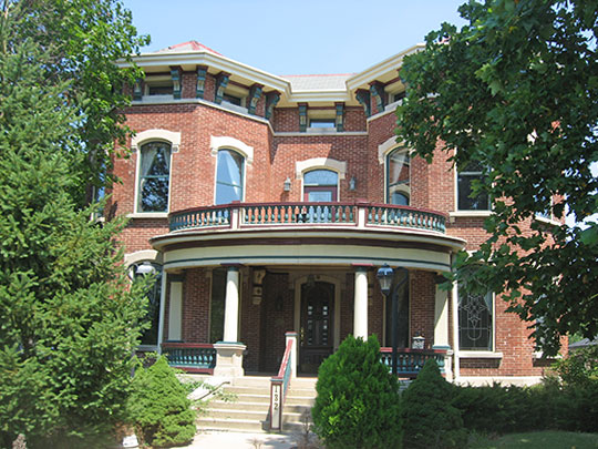John Hamilton House, ca. 1853, 132 West Washington Street, Shelbyville, IN, National Register