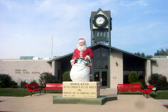 Town Hall in Santa Claus, Indiana.