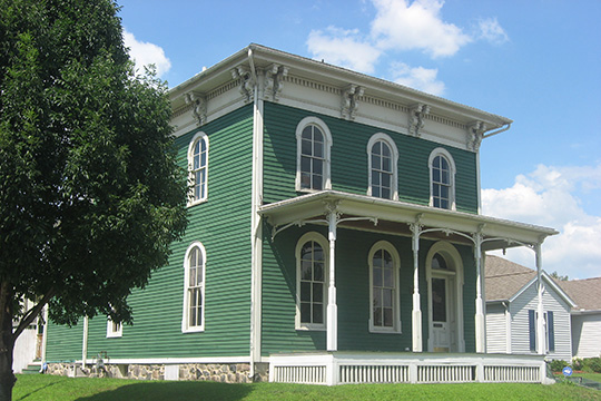 Martin Wenger Farmhouse, ca. 1851, 701 East Pennsylvania Avenue, South Bend, IN, National Register