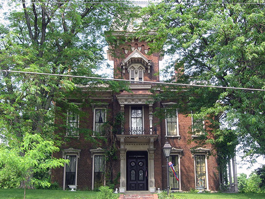 Judge Cyrus Ball House, ca. 1868, 402 South 9th Street, Lafayette, IN.