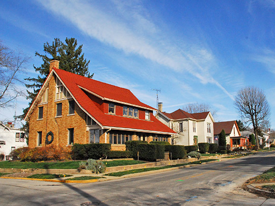 Homes on East Seminary Street, Liberty Historic District, Liberty, IN