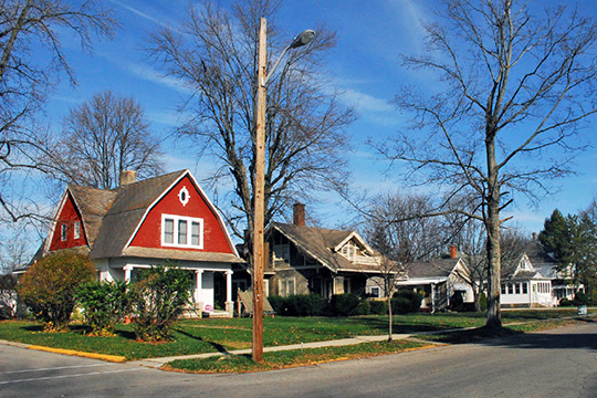 Homes on East Union Street, Liberty Historic District, Liberty, IN
