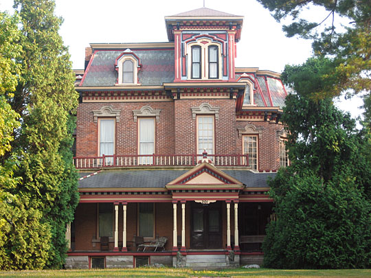 General Asahel Stone Mansion, National Register, Evansville, IN, 1872, orange street