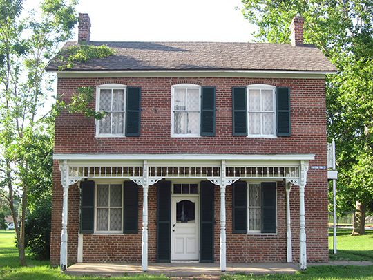 Paul Dresser Birthplace, ca. 1850, First and Farrington Streets, Terre Haute, IN, National Register