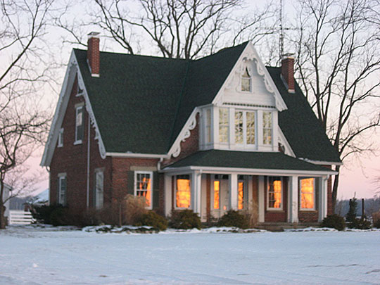 Halderman-Van Buskirk Farmhouse, ca. 1865, 5653 North 500 West, Paw Paw Township, Wabash County, IN, National Register