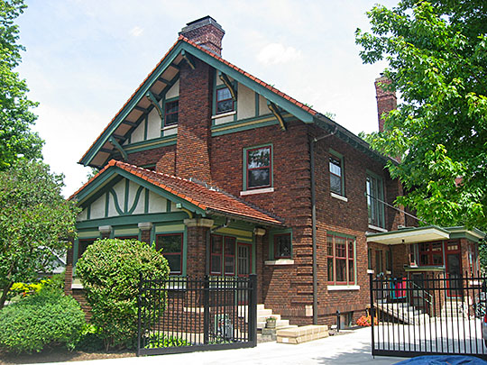 Albert Maack House, ca. 1913, 498 South Court Street, Crown Point, IN, National Register
