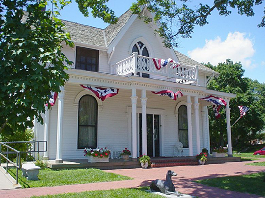 Amelia Erhardt Birthplace, ca. 1861, 223 North Terrace Street, Atchison, KS, National Register