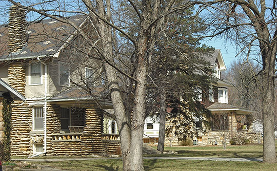 Homes in the Breezedale Historic District, Hancock Historic District, Lawrence, KS, National Regsiter