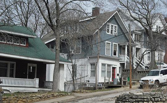 Homes on 12th Street, Hancock Historic District, Hancock Historic District, Lawrence, KS, National Register
