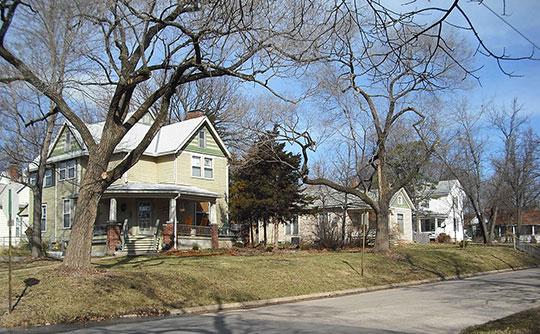 Home in the Pinckney II Historic District, Lawrence, KS, National Register