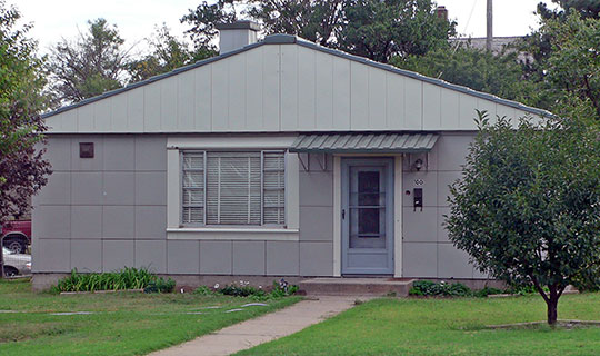 Drees House (Westchester Deluxe model Lustron Steel House), ca. 1949, 100 East 19th Street, Hays, KS, National Register