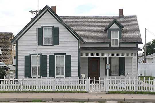 Walter P. Chrysler boyhood home, ca. 1889, 104 West 10th Street, Ellis, KS, National Register
