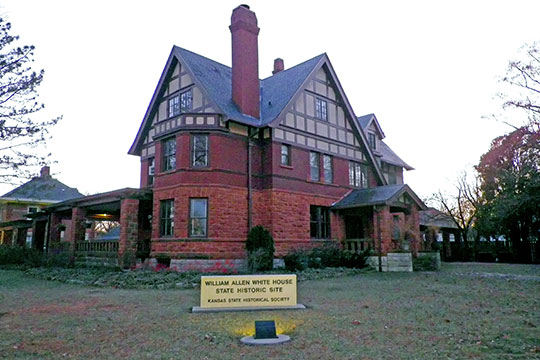 William Allen White House, ca. 1899, 927 Exchange Street, Emporia, KS, National Register