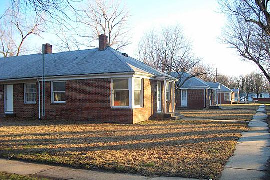 View southeast along Kansas Avenue, Linwood Place Historic District, Wichita, KS, National Register