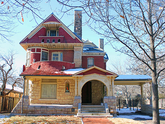 Riverside Cottage (Thomas Fitch House), ca. 1888, 901 Spaulding Avenue, Wichita, KS, National Register