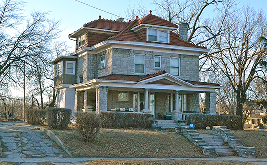 Theodore Shafer House, ca. 1910, 2518 North 10th Street, Kansas City, KS, National Register
