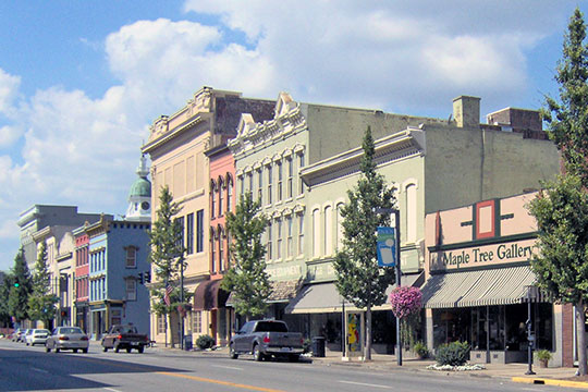 Street Scene, Danville Commercial District, Danville, KY, National Register