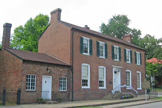 Brown Pusey House (Community Center), ca. 1825, 128 North Main Street, Elizabethtown, KY, National Register