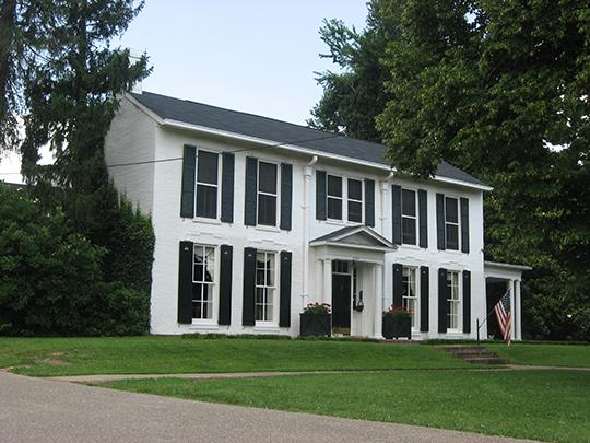 Samuel B. Thomas House, ca. 1844, 337 West Poplar Street, Elizabethtown, KY, National Register