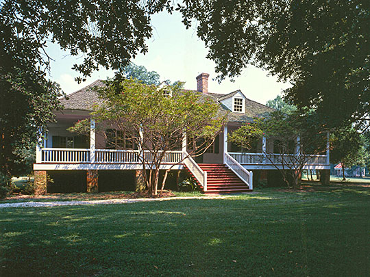 Magnolia Mound Plantation House, ca. 1786, 2161 Nicholson Drive, Baton Rouge, LA.
