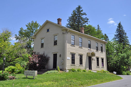 Anthony House, ca. 1817, 67 East Road, Adams, Massachusetts, Birthplace of Susan B. Anthony, National Register