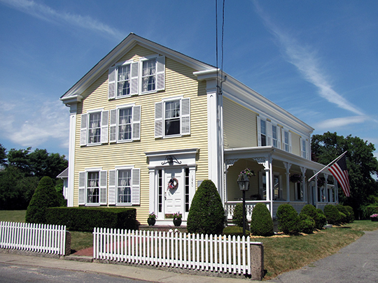 Captain James W. Manchester House, ca. 1840, Westport Historic District, Westport, MA