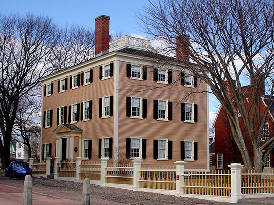 Benjamin Hawkes House, ca. 1780 & 1801, located in the Derby Waterfront Historic District, Salem, MA, National Register, National Historic Landmark